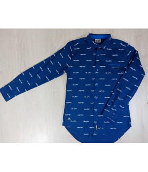 Рубашка на мальчика с длинным рукавом