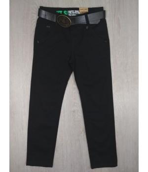 Хлопковые брюки с ремнем для мальчика