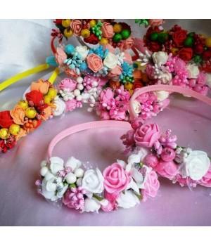 Ободок  на голову Цветы