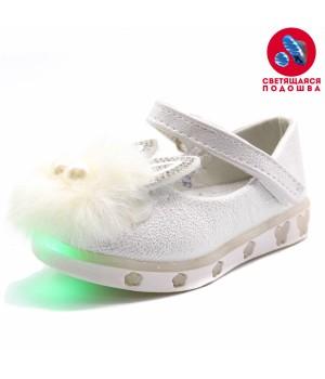 Туфли дет. Мышонок  цвет белый