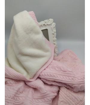 Вязанный плед  для новорожденного